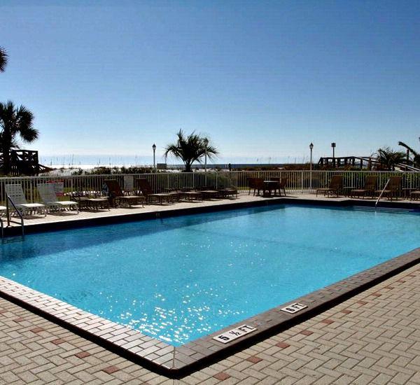 Beachside pool at Destin on the Gulf Condos in Destin Florida