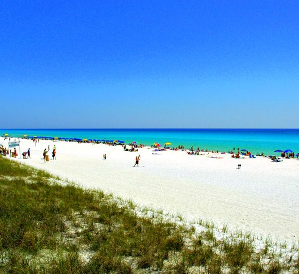 Plenty of beach to stroll at Ariel Dunes in Destin Florida.