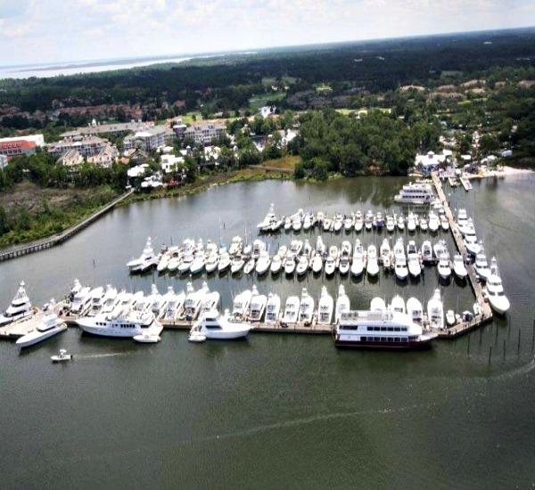 Marina and boat slips at Bahia in Sandestin Resort Destin FL.