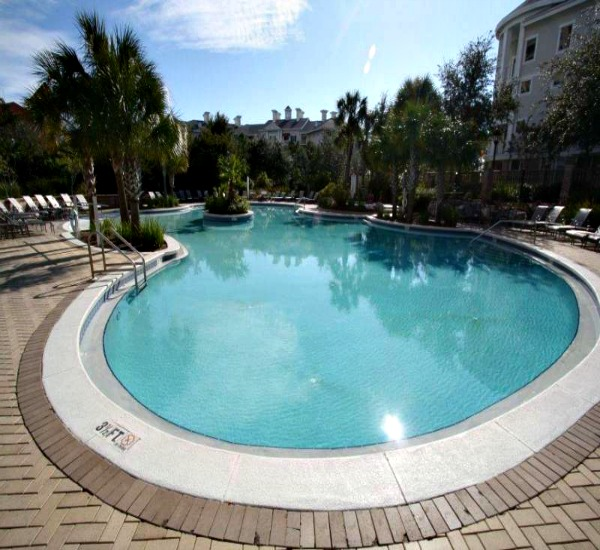 Pool at Bahia at Sandestin Golf and Beach Resort within the Village of Baytowne Wharf in Destin FL.