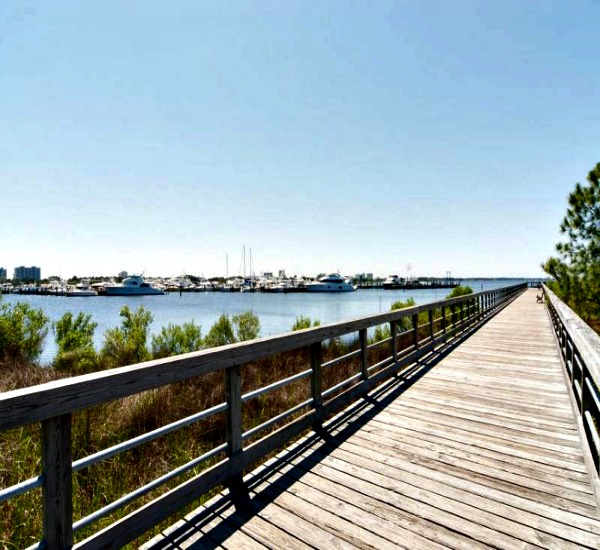 Bay view from the boardwalk at Bahia at Sandestin Golf and Beach Resort in Destin FL