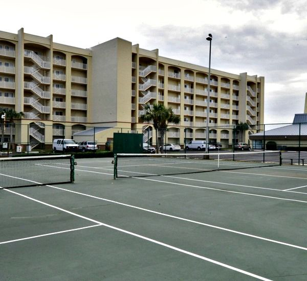 Tennis courts at the Beach House Resort Condominiums in Destin Florida.