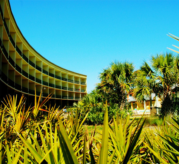 Front View of the building at Beach Resort in Destin Florida.