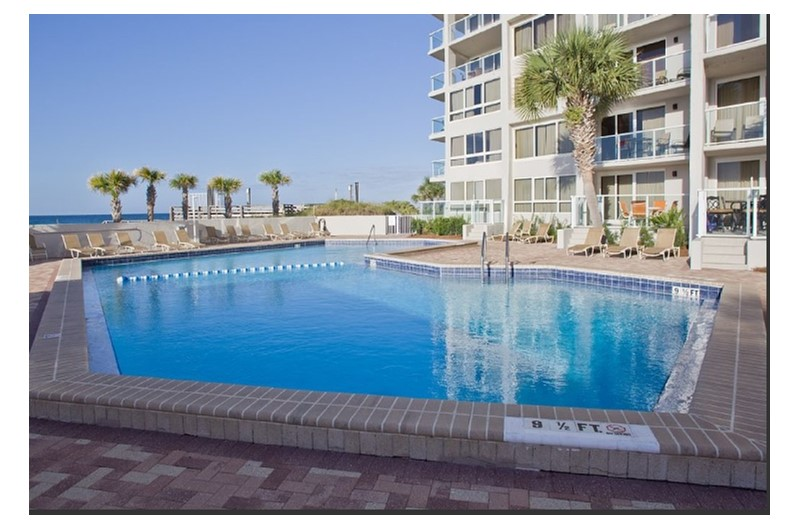 Beachfront pool at Beachside Towers Two in Destin FL
