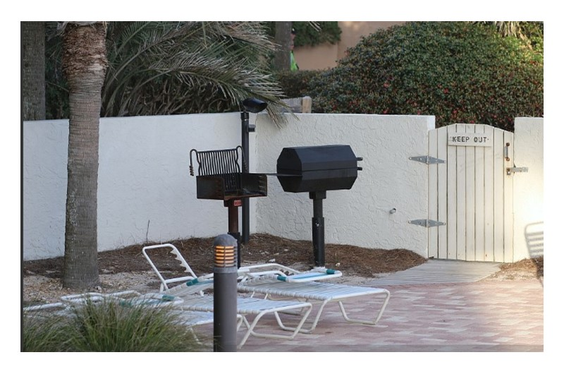 Grilling area at Beachside Towers in Destin FL