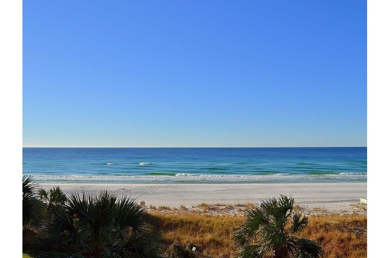 Gorgeous direct view of the Gulf from Beachside Towers in Destin FL