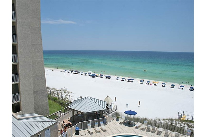 Enjoy sitting on your balcony and watch the waves roll in at Beachside Towers in Destin FL