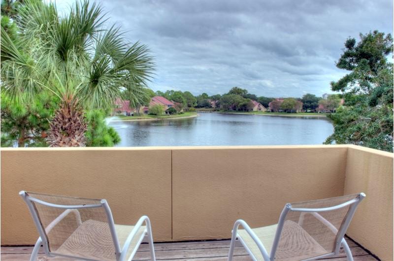 Balcony view at Beachwalk Villas in Destin Florida