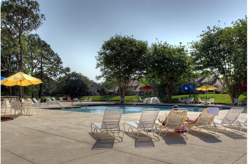 Nice pool area at Beachwalk Villas in Destin Florida