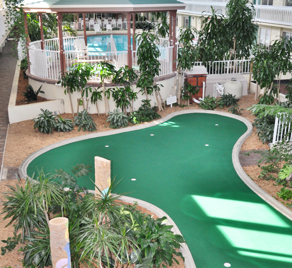 The putting green at Club Destin Resort in Destin Florida.