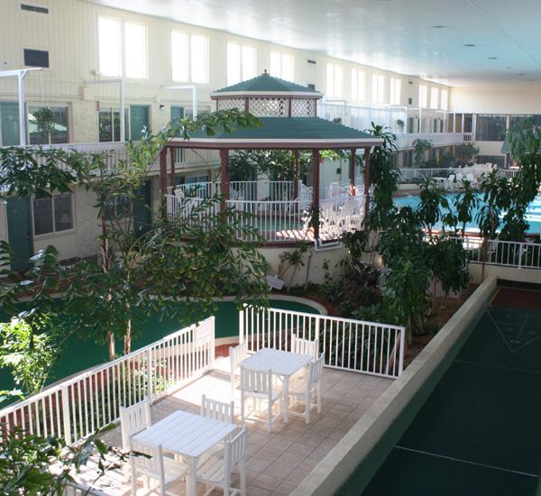 Three story atrium at Club Destin Resort in Destin Florida