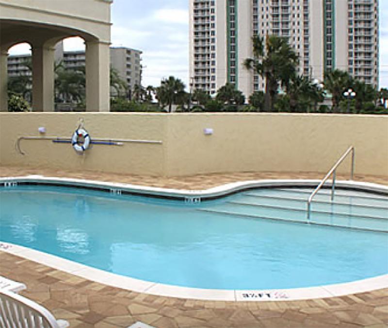 Refreshing  outdoor pool at Club Destin Resort in Destin Florida
