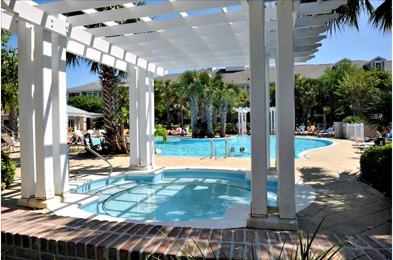 Pool view at the Cottages and Villas at Sandestin FL