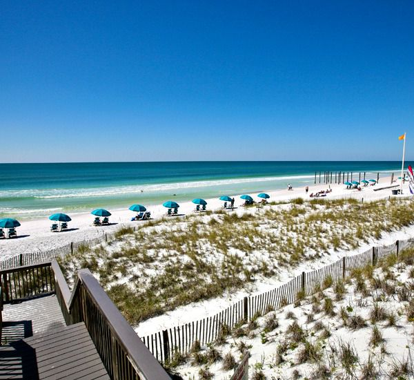 Walkover to the beach at Crystal Sands East and West Condominiums   in Destin Florida