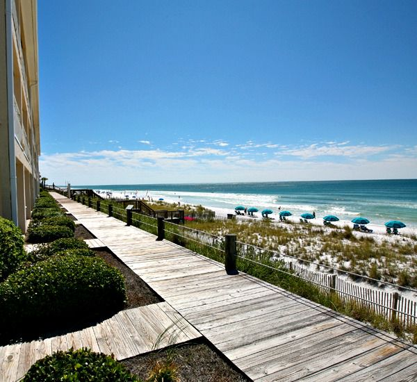 The beach walkway to the beach at Crystal Sands East and West Condominiums   in Destin Florida