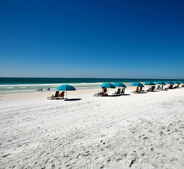 Private beach at the Crystal Sands East and West Condominiums   in Destin Florida