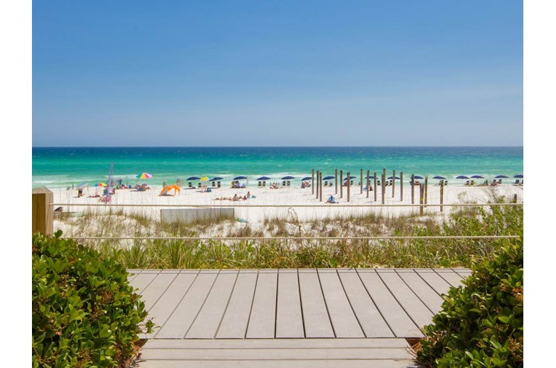 Gorgeous view of the Gulf from Crystal Sands Condominiums in Destin Florida