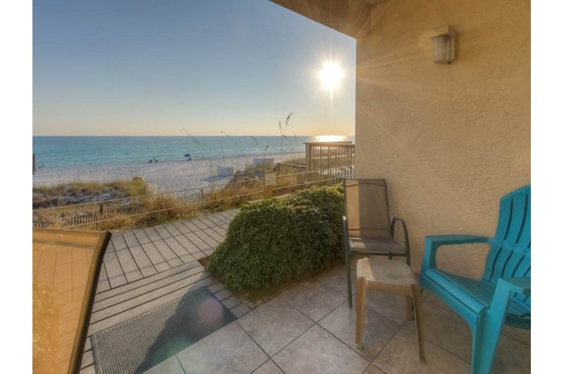 Big view of the Gulf and beach from Easy access to the beach at Crystal Sands Condominiums in Destin Florida