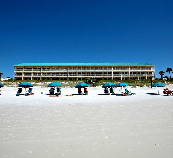 Crystal Sands East and West Condominiums with private beach in Destin Florida.