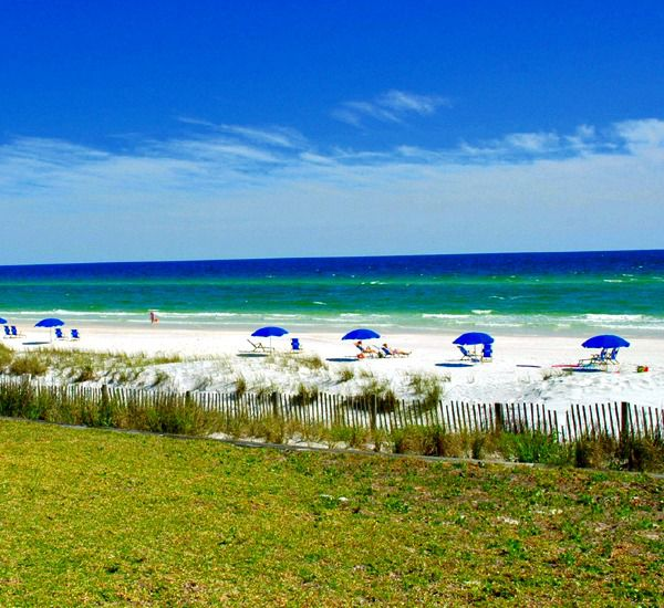 The dunes at the Crystal Villas Condominiums in Destin Florida