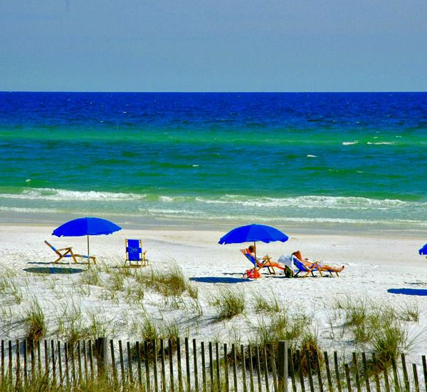 View of the beach at Crystal Villas Condominiums in Destin Florida