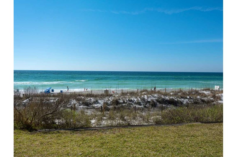 You will have a direct view of the Gulf from Crystal Villas in Destin Florida
