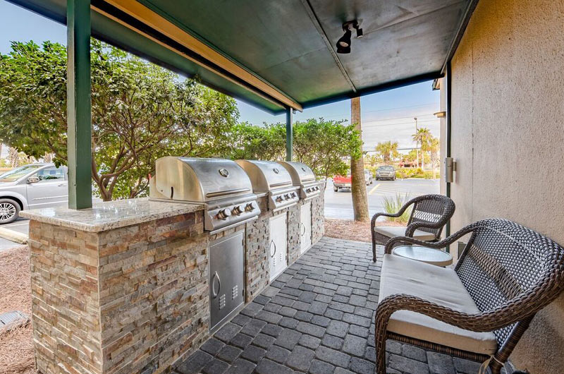 Barbecue grills at Destin Beach Club in Destin FL