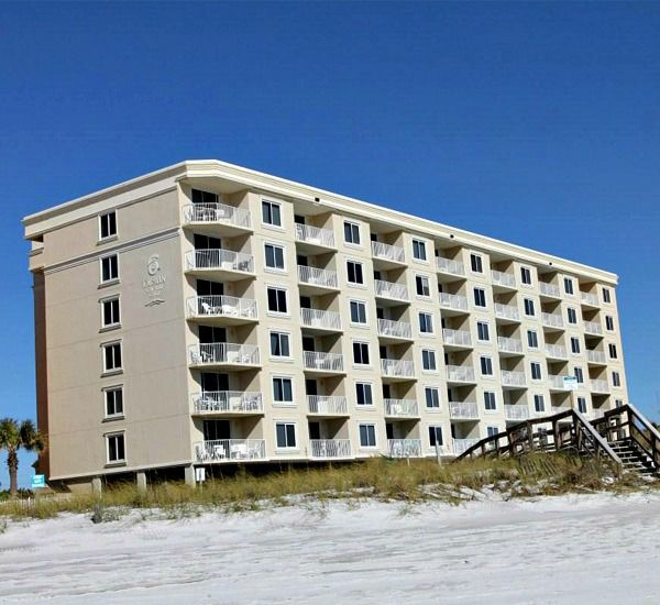 Building exterior of Destin on the Gulf Condos in Destin Florida