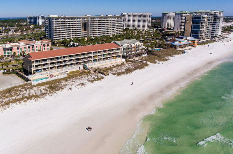 Aerial view of Destin Seafarer in Destin FL