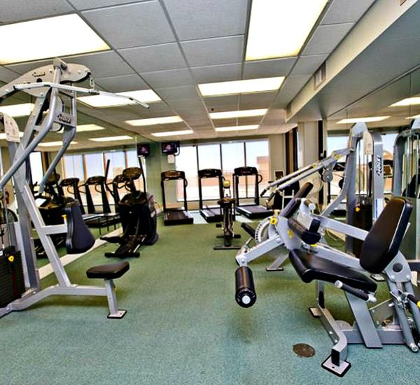 The fitness center at Emerald Towers  in Destin Florida.