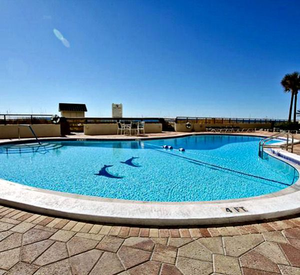 The pool at Emerald Towers  in Destin Florida