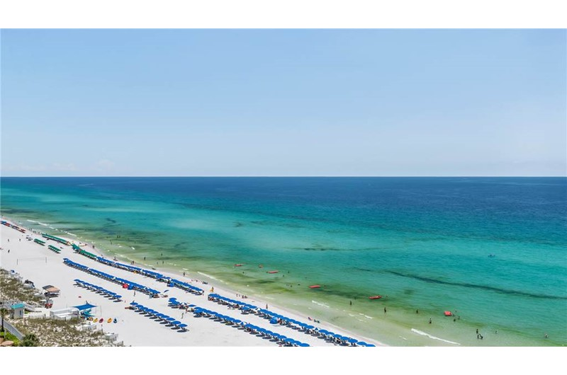 Big views of the beach from Emerald Towers in Destin Florida