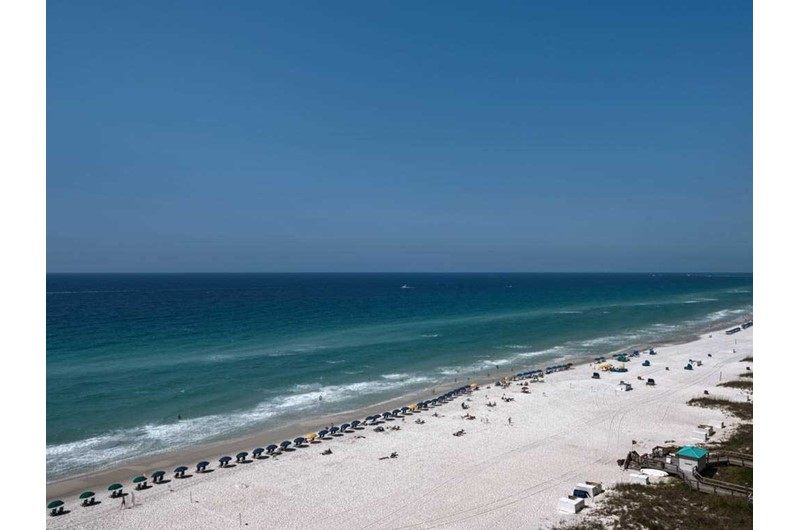 Gorgeous views of the beach and Gulf from Emerald Towers in Destin Florida