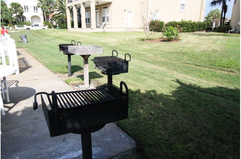 Grill area at Enclave in Destin FL