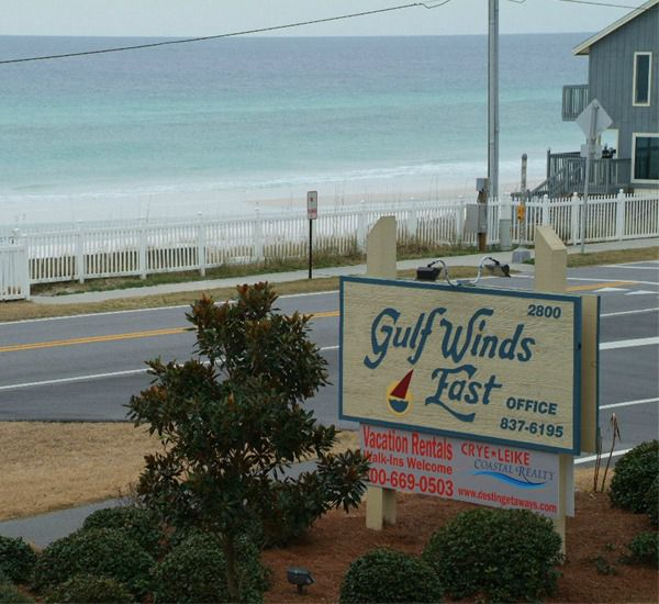 The marquee at the entrance to Gulf Winds East Destin FL
