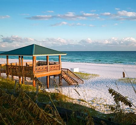 Covered beachfront pavilion at Gulf Winds East Destin FL