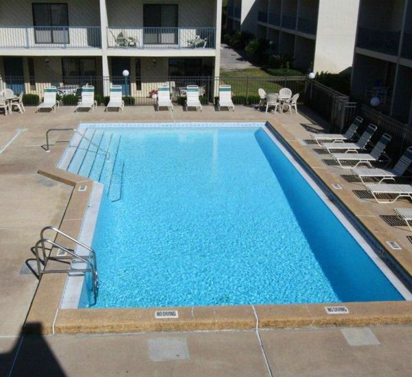 Spacious swimming pool at Gulf Winds East Destin FL