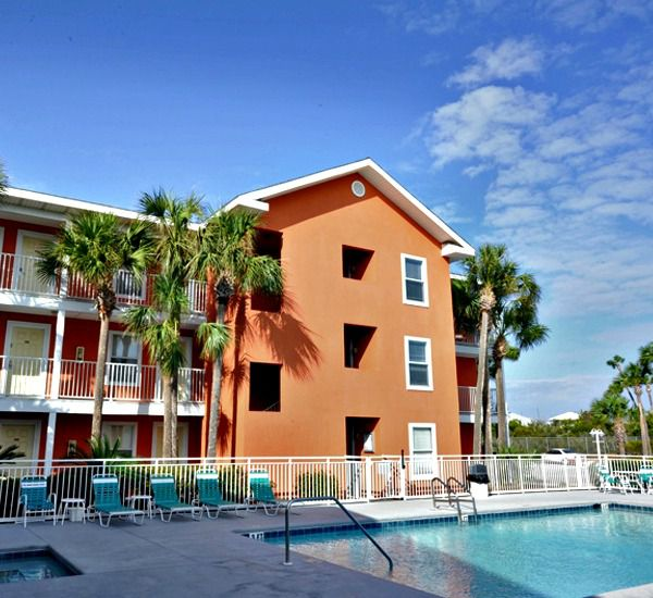 Across the street from the Gulf of Mexico at Gulfview I & II Condominiums in Destin Florida.