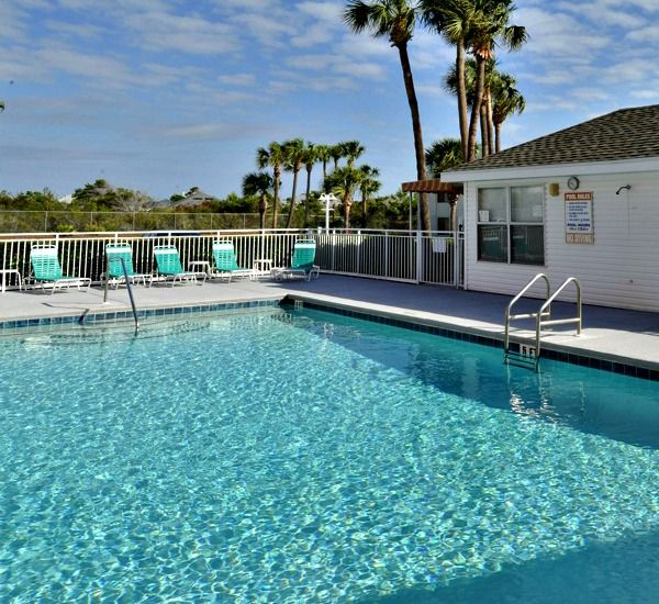 Two swimming pools at Gulfview I & II Condominiums   in Destin Florida