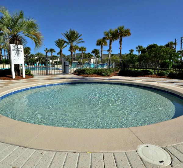 Pool area at Harbor Landing  in Destin Florida