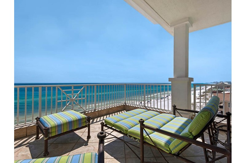 Gorgeous view of the water from the Penthouse at  Inn at Crystal Beach in Destin Florida.