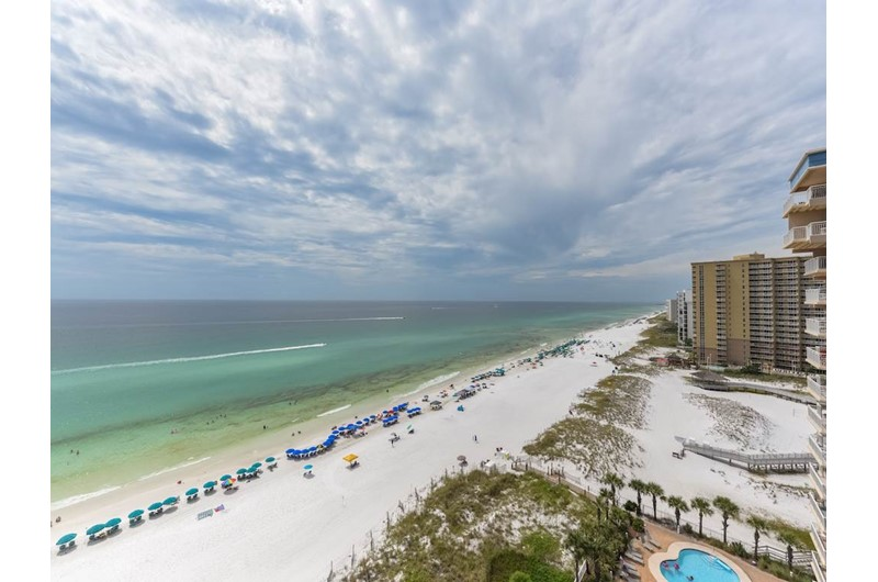 What a view from your unit at Jade East Towers in Destin Florida