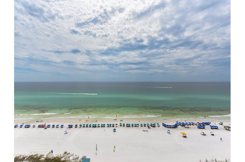 Direct view of the Gulf from Jade East Towers in Destin FL