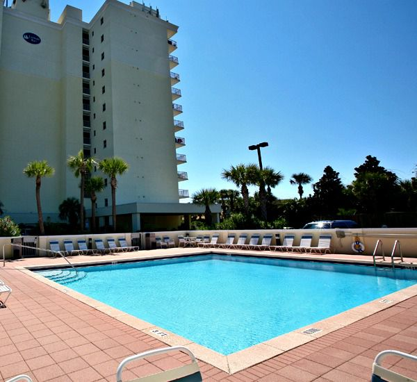 One pool at the Leeward Key Condominiums  in Destin Florida