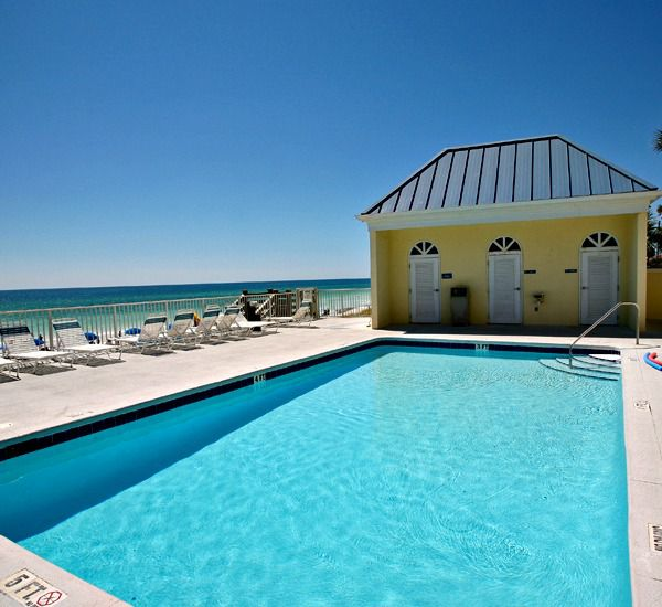 Gulfside pool at the  Leeward Key Condominiums  in Destin Florida