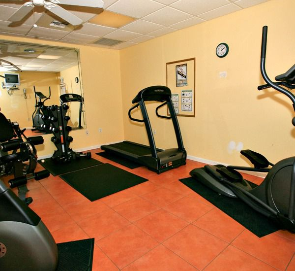 The fitness center at the Leeward Key Condominiums  in Destin Florida