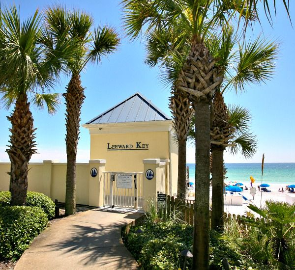 Pavilion leading to the beach at the Leeward Key Condominiums  in Destin Florida