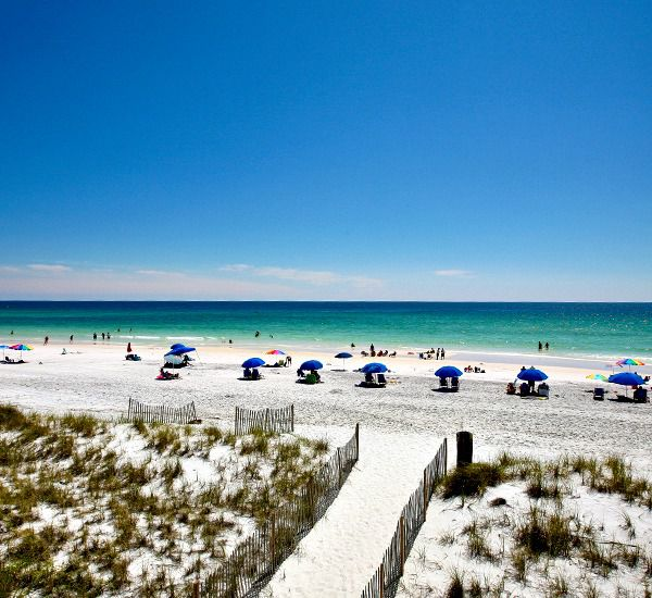 Boardwalk to the beach at Leeward Key Condominiums  in Destin Florida