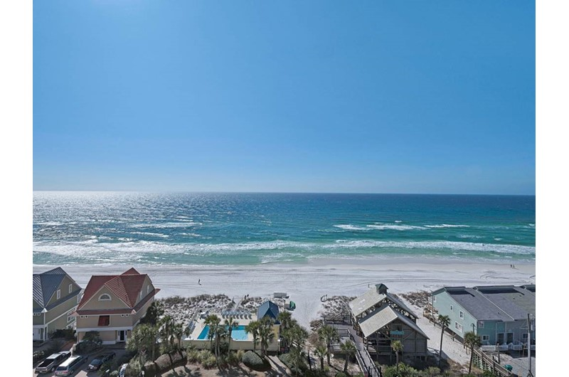 Incredible Gulf view from Leeward Key Condominiums in Destin Florida