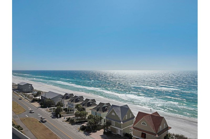See for miles down the coastline at Leeward Key Condominiums in Destin Florida